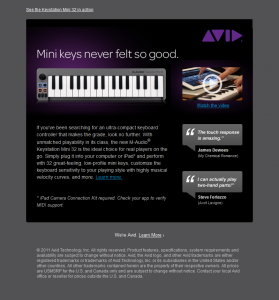 Avid - mini-keys-email
