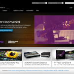 Avid homepage flash